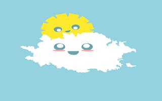 Sole sulla nuvola disegno