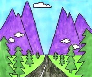 cara+menggambar+pemandangan