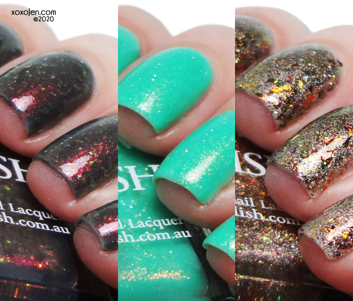 xoxoJen's swatch of Glam Polish Mando Trio