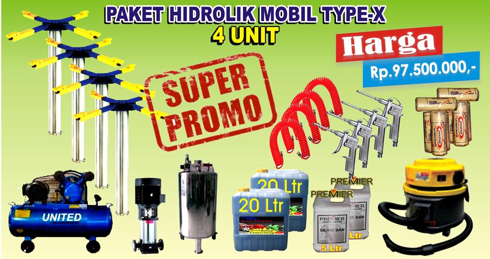 Paket Hidrolik-X 4 Unit