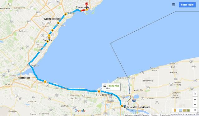 Como ir de Toronto a Niagara Falls de carro