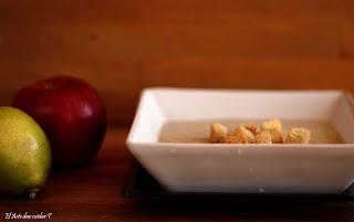 Raw crema calabacín, vegana