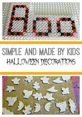Simple Halloween decorations made by kids