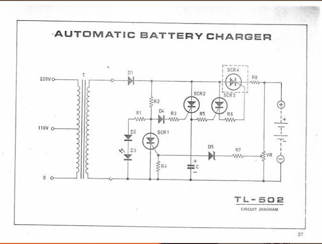 Automatic Baterai charger TL502  Kumpulan skema elektronika untuk hoby