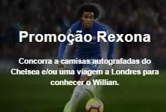 Cadastrar Promoção Rexona Viagem Conhecer William Jogador - Camisas Chelsea