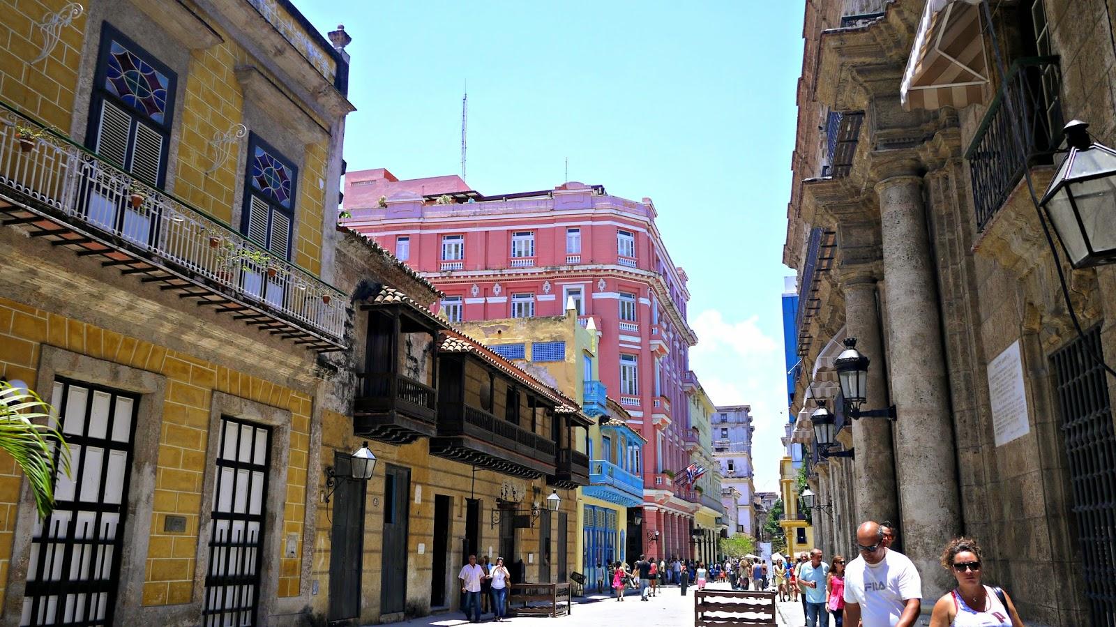 Obispo street in Havana, Cuba