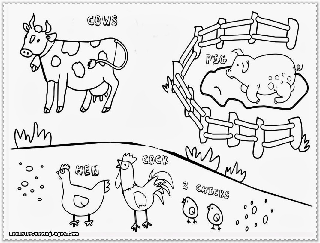 easy farm coloring page - photo #22