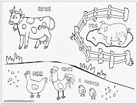 farm animal coloring pages sheets