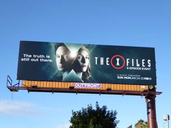 The X-Files 2016 billboard