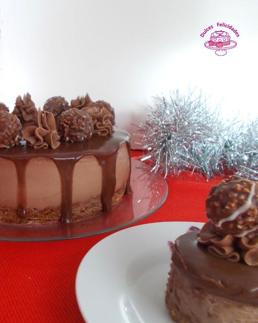 Tarta Ferrero Roché y Nutella sin horno