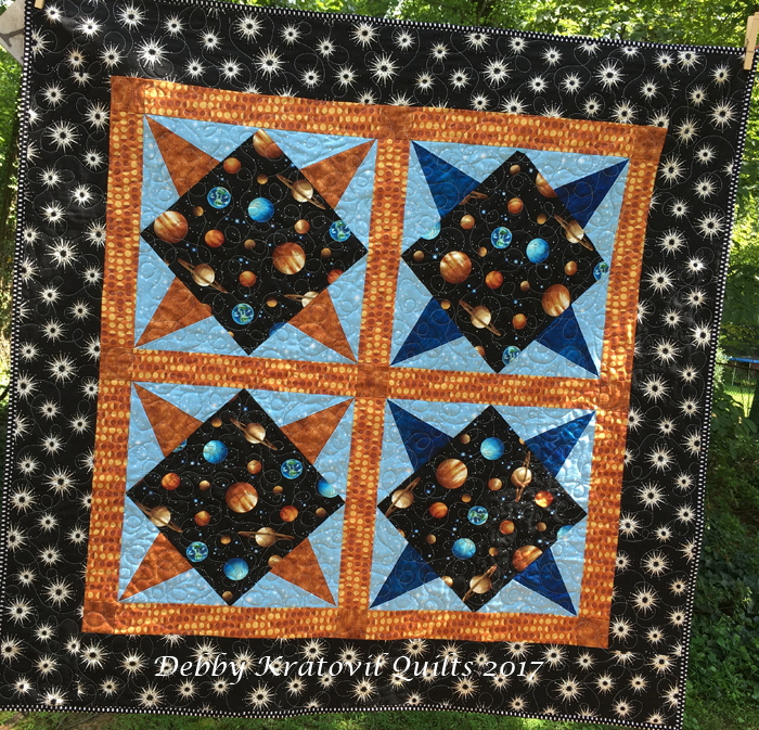 Debby kratovil quilts for Outer space quilt