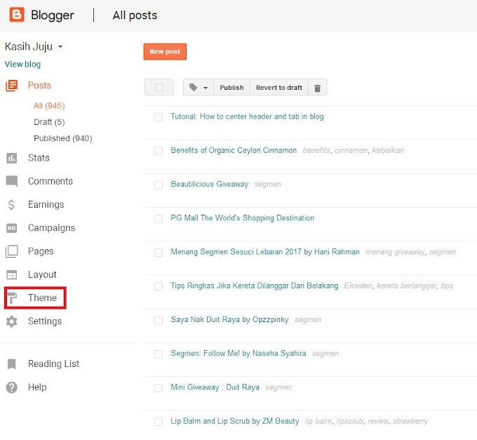 Tutorial: How to center header and tab in blog