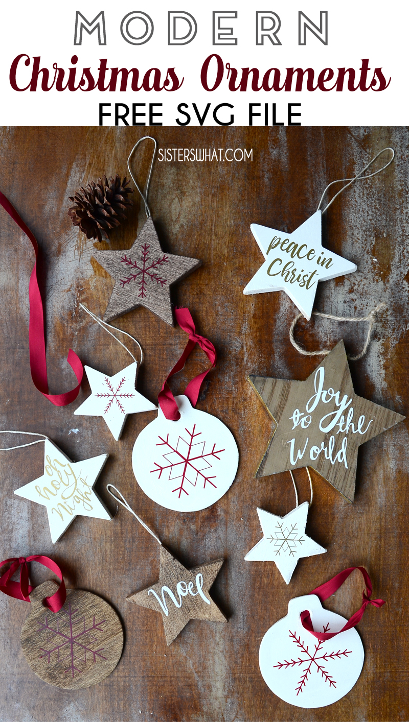 Modern Christmas Ornaments Free SVG File