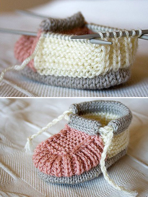 Knitted Baby Booties - Free Pattern