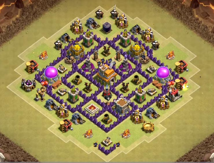 coc th7 war base