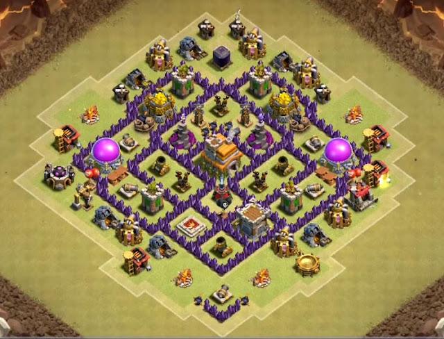 coc th7 war base