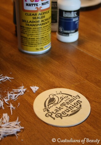 DIY Drink Coasters: Wood Transfer | by CustodiansofBeauty.blogspot.com