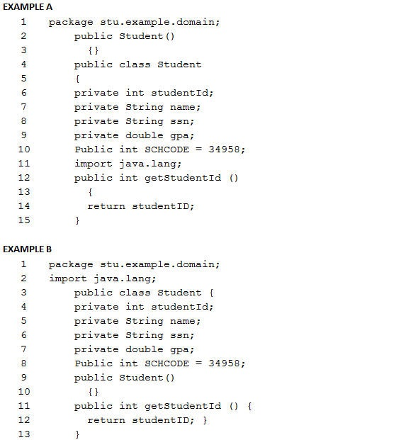 Deni ace section 4 oracle java fundamental quiz which of the two diagrams below illustrate the general form of a java program ccuart Image collections