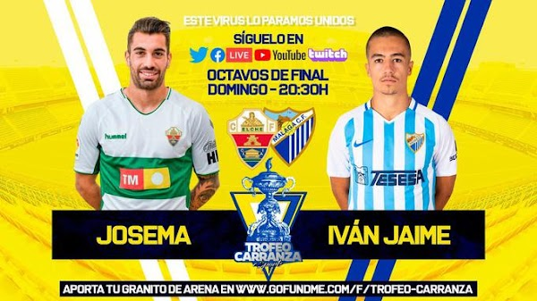 Sigue en directo el Elche - Málaga del I Trofeo Carranza de FIFA 20