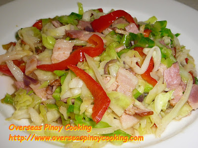 Cabbage and Bacon Pinoy Style