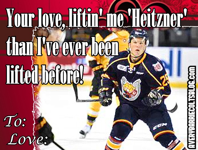 201617 Barrie Colts Valentines Day ECards OHL A Very Barrie – Hockey Valentine Cards