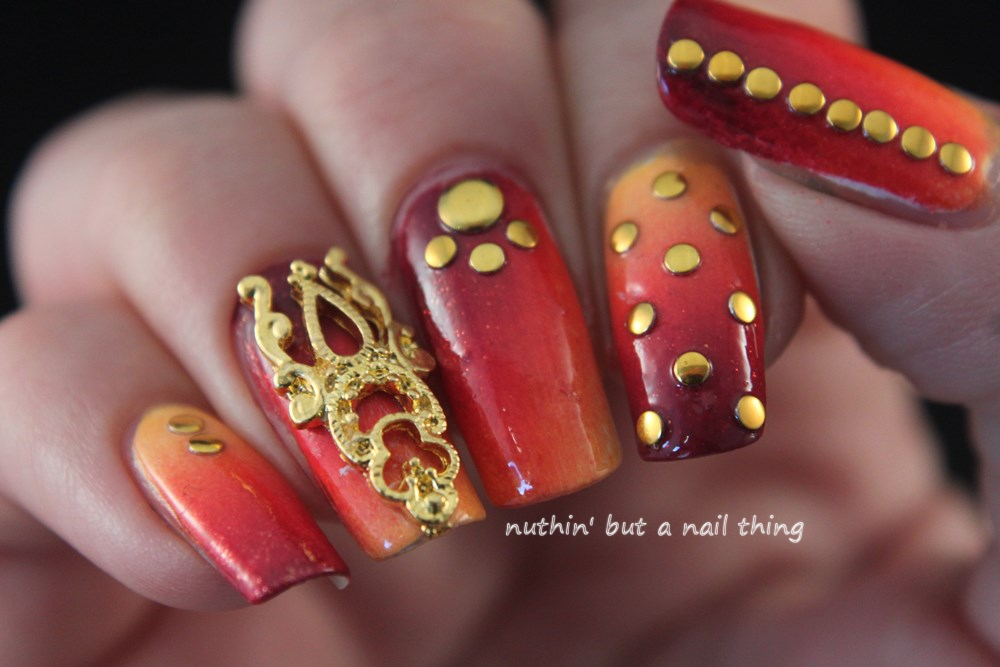 Born Pretty Store - Gold Nail Art adornment