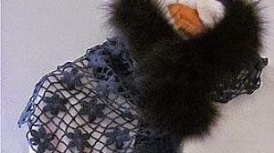 Estola  floral tejida al crochet