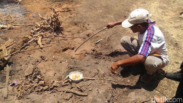 Fenomena Alam Tanah 'Mendidih' Kejutkan Warga Sumenep