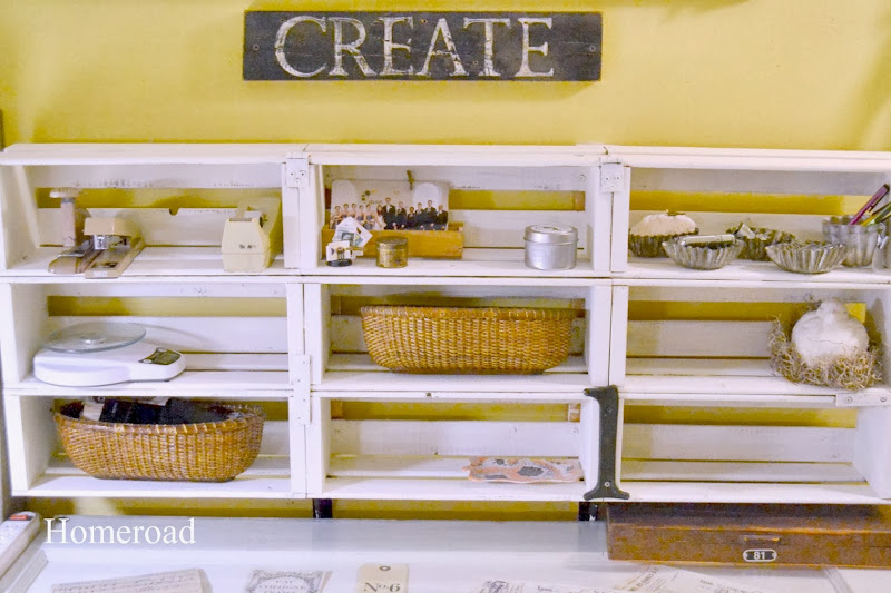 Craft Room with Unique Storage Ideas