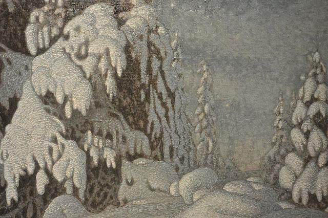 musée national ed Stockholm  Gustav Fjaestad (1868_1948) Winter moonlight (1895)