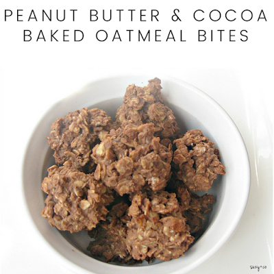 Peanut butter & cocoa baked oatmeal bites