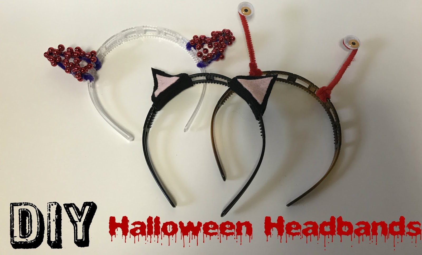 last minute halloween headbands diy