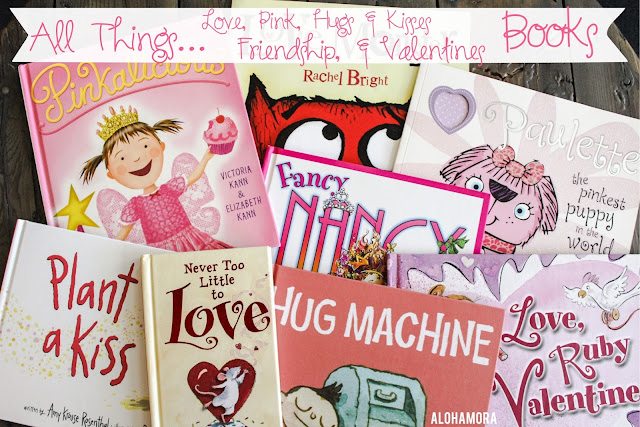 All Things February related aka all things love, pink, hugs, kisses, friendship, chocolate, and Valentine's related. This book list of picture books is full of great read alouds for parents, teachers, and/or librarians. Alohamora Open a Book http://alohamoraopenabook.blogspot.com/ great reads, great books, funny, books, character lessons, lesson ideas, reading strategies, 6 Writing Traits= Word Choice
