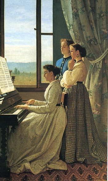 Silvestro Lega - La letra de la canción- 1867