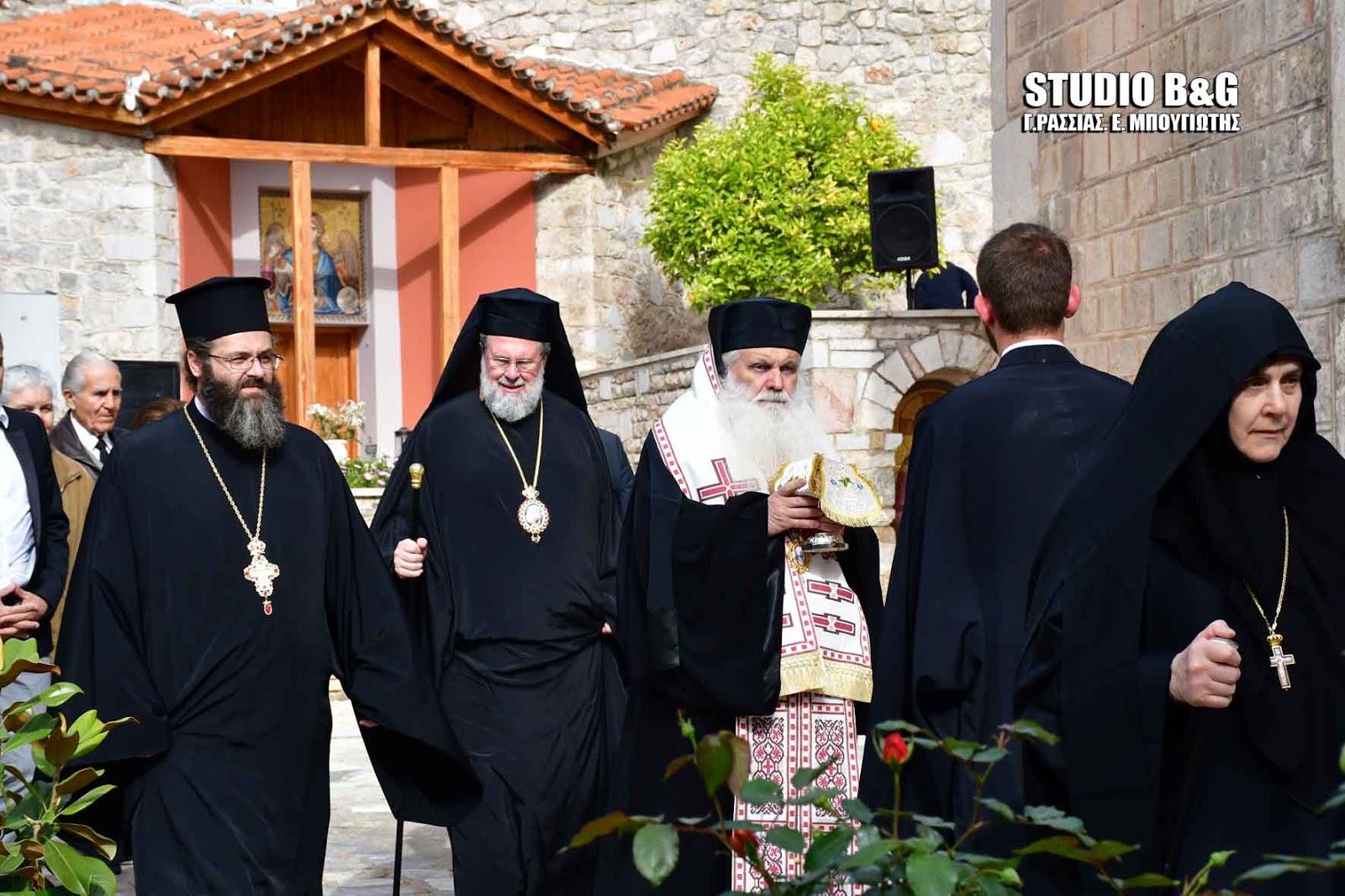 Ο Εσπερινός των Εγκαινίων στην Βυζαντινή Αγία Μονή Ναυπλίου