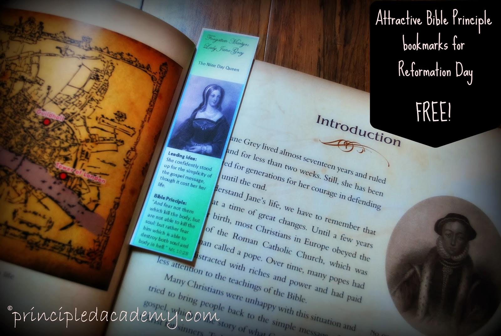 Reformation Day Freebie Printable Bookmarks