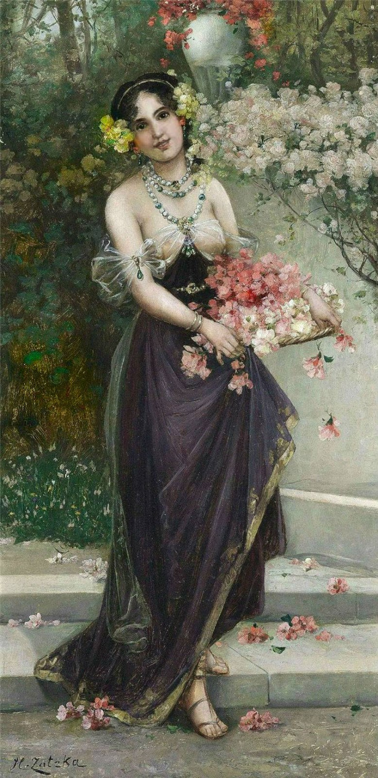 The Spring Essentials You Need To Nail French Girl Style: Paintings Of Spring: Hans Zatzka