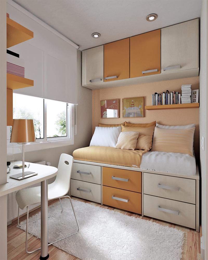 20 Best Bedroom Colors 2019: The Best 20 Efficient & Attractive Small Bedroom Designs