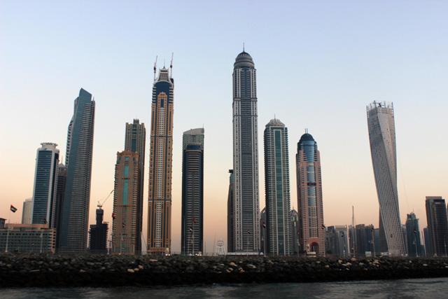 JBR se encuentra junto a Dubai Marina y su skyline