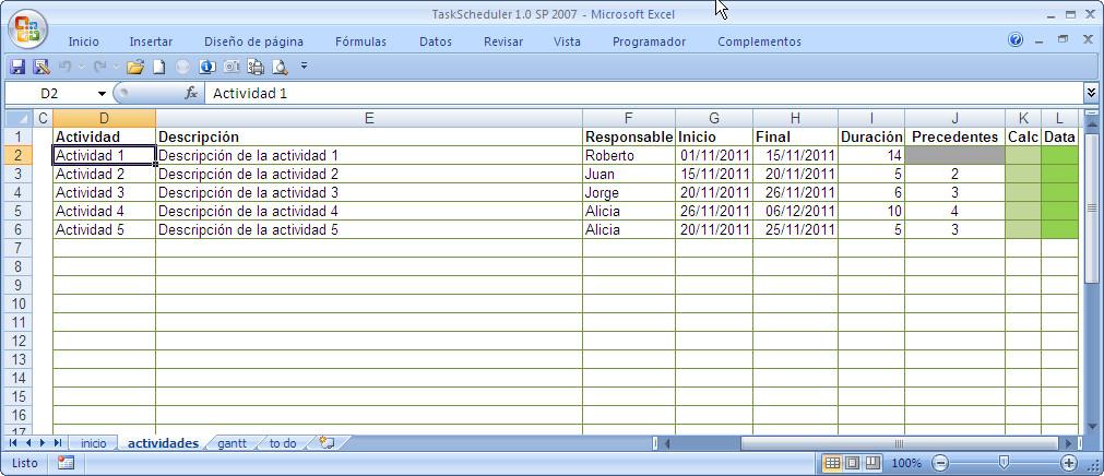 octubre 2011 ~ JLD Excel en Castellano - Usar Microsoft Excel - diagrama de gantt en excel
