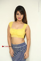 Cute Telugu Actress Shunaya Solanki High Definition Spicy Pos in Yellow Top and Skirt  0021.JPG