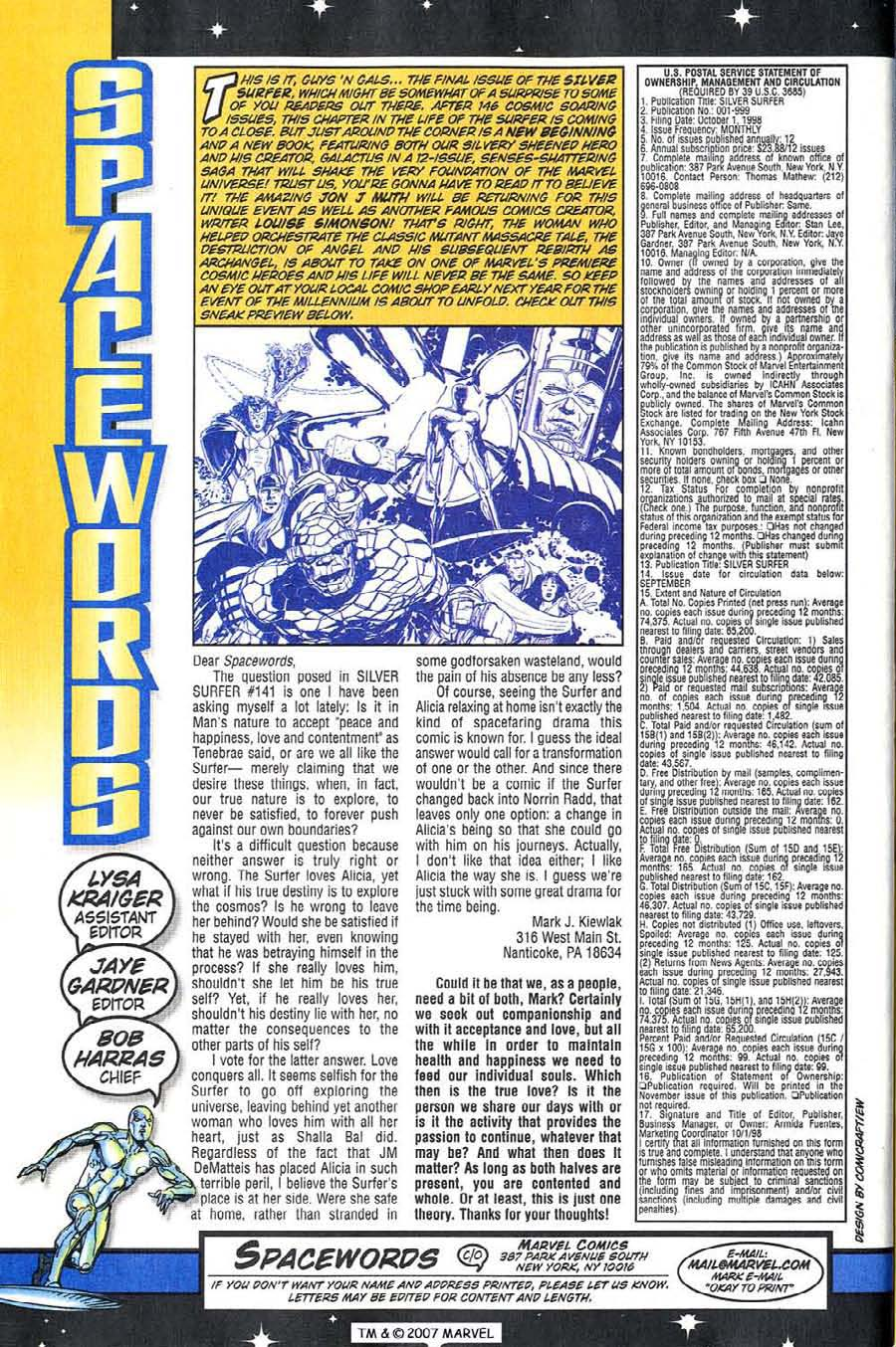 Read online Silver Surfer (1987) comic -  Issue #146 - 36