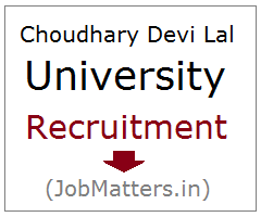 image : Ch. Devi Lal University Recruitment 2017 @ JobMatters.in