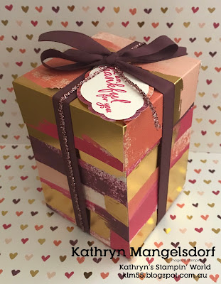 Stampin' Up! 3d Box, Painted with Love Specialty Designer Series Paper created by Kathryn Mangelsdorf