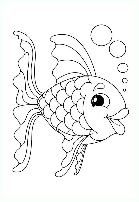 Tranh tô màu con cá 2
