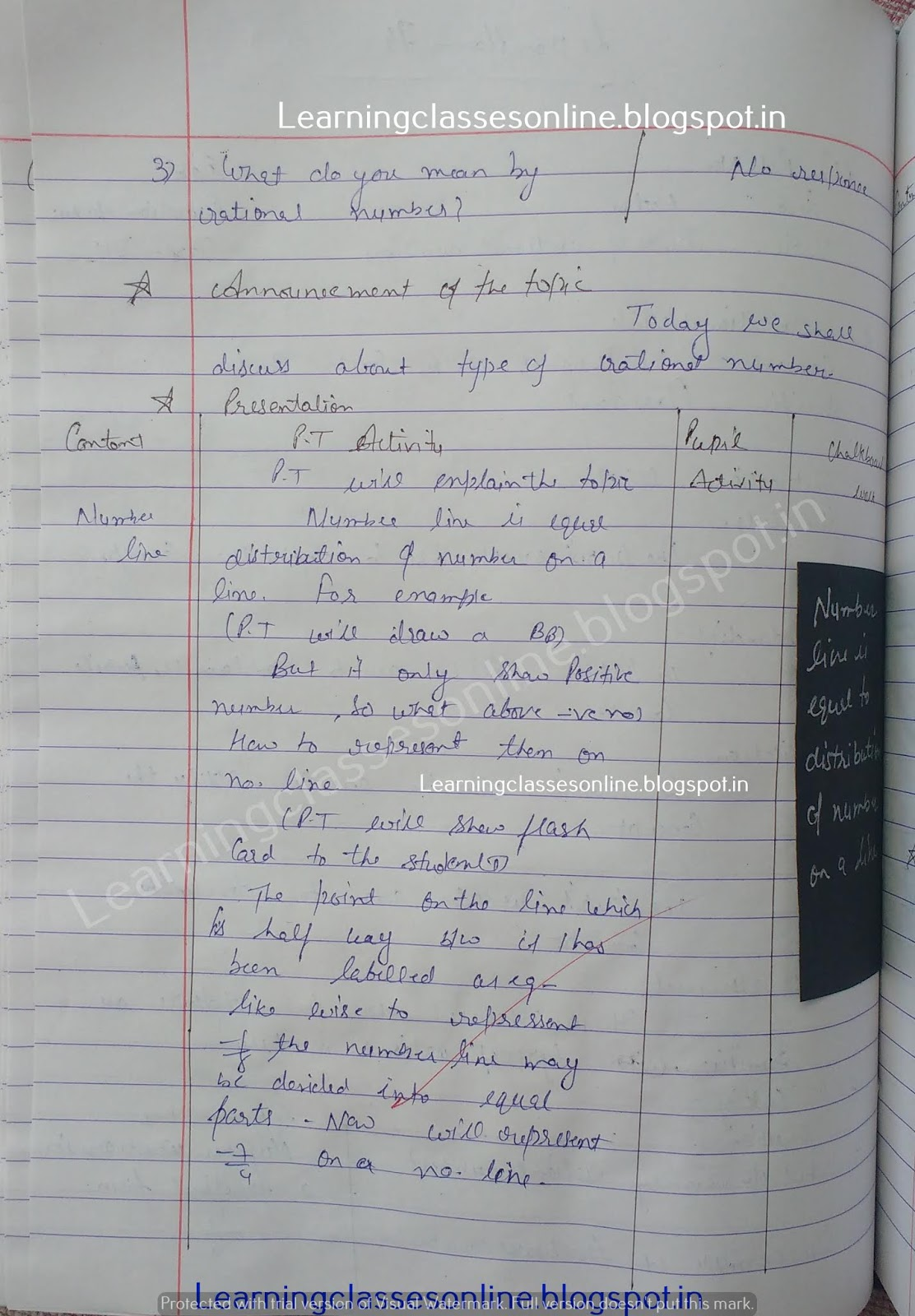 Lesson Plan For Maths Class 6 Cbse,