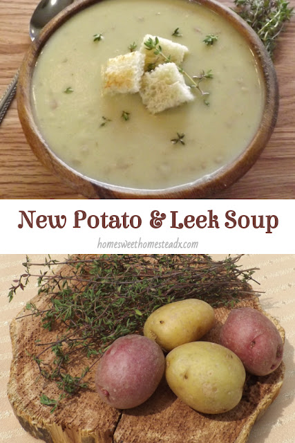 New Potato and Leek Soup - Home Sweet Homestead