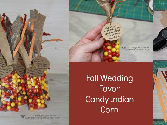 Fall Candy Indian Corn Favor