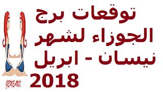 توقعات برج الجوزاء لشهر نيسان - ابريل 2018