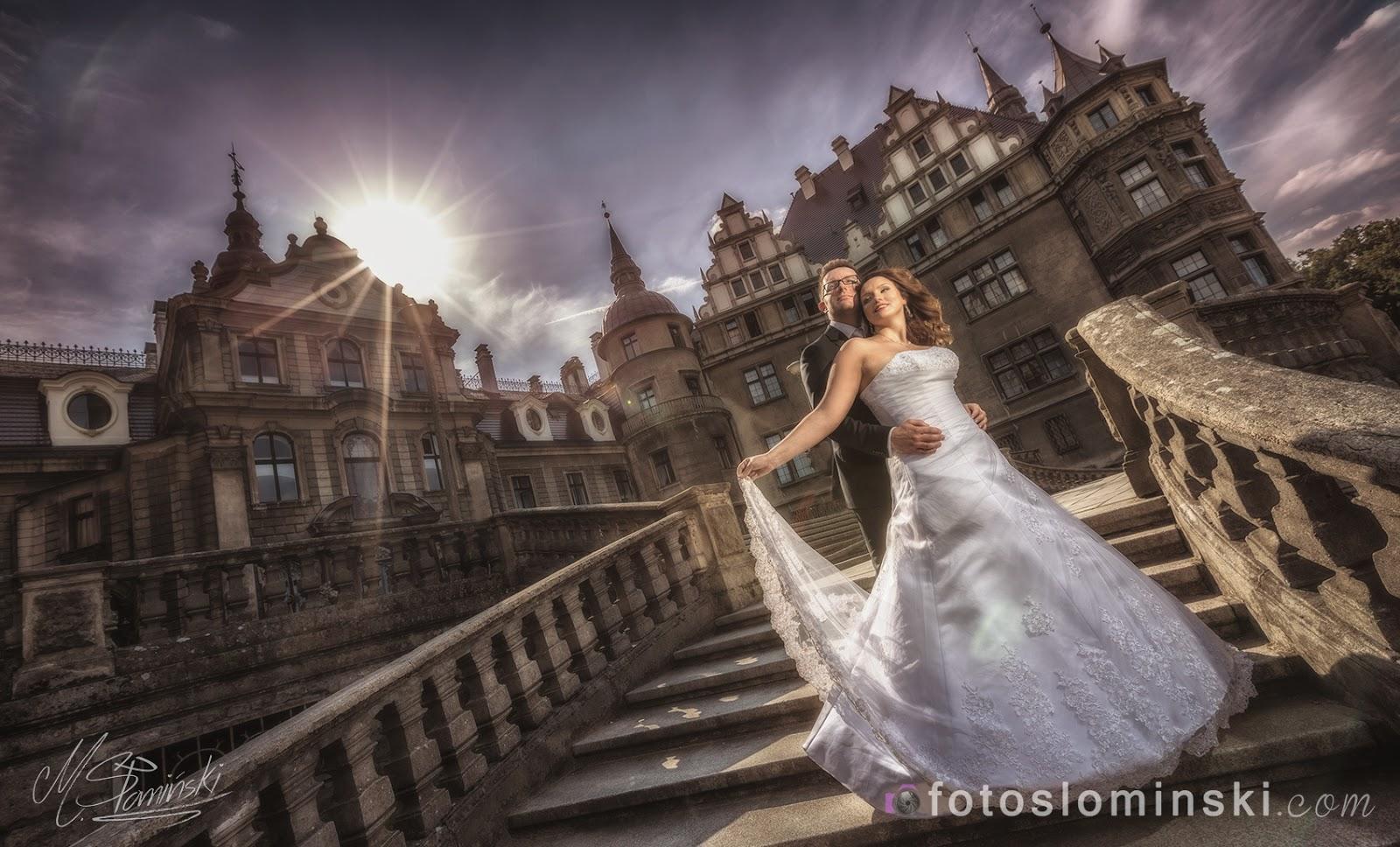Piękny zamek koło #Opole - Zdjęcia Słomińskiego - #Fotografia ślubna FotoSlominski_Pl